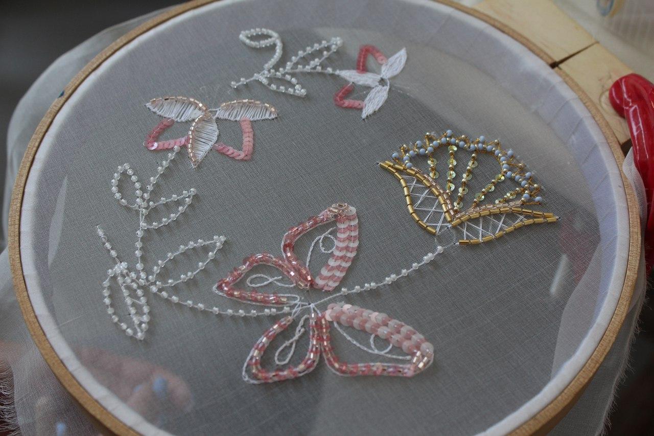 Люневильская вышивка фото