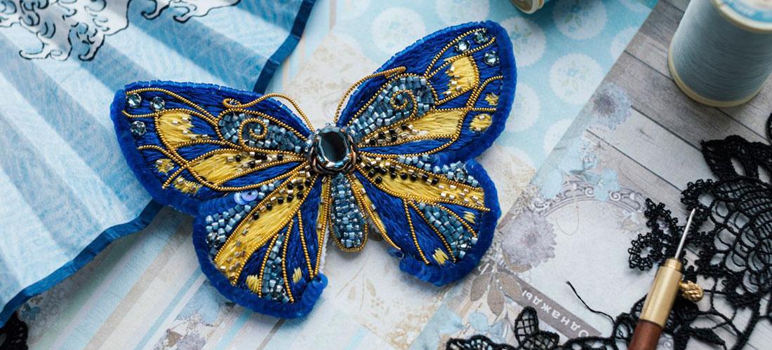 Брошь «Бабочка «Морской бриз» в продаже