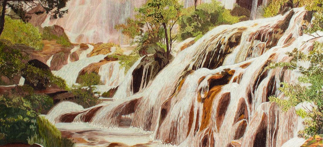 """Благодарности за помощь и о картине """"Водопады"""""""