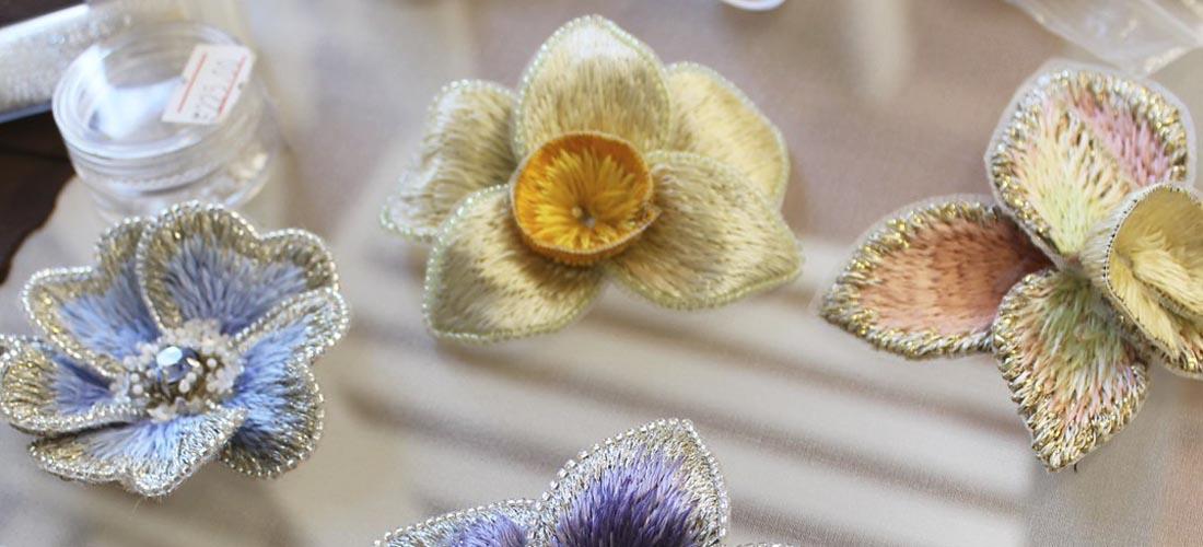 Новые броши-цветы