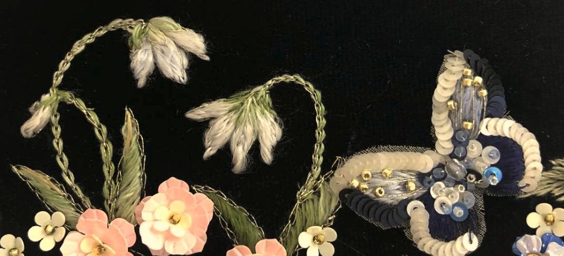 Особенности вышивки люневильским крючком по бархату
