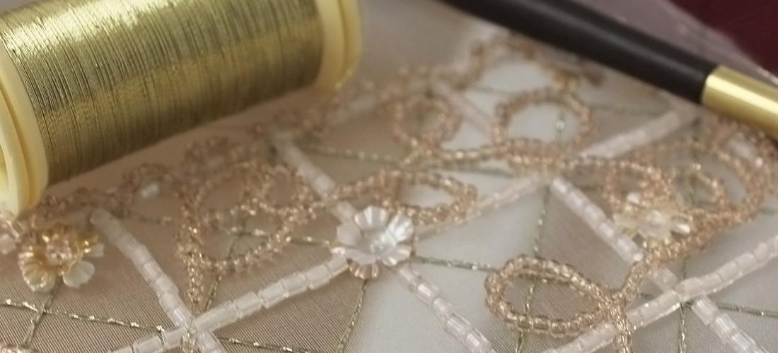 Решетка как элемент дизайна в вышивке