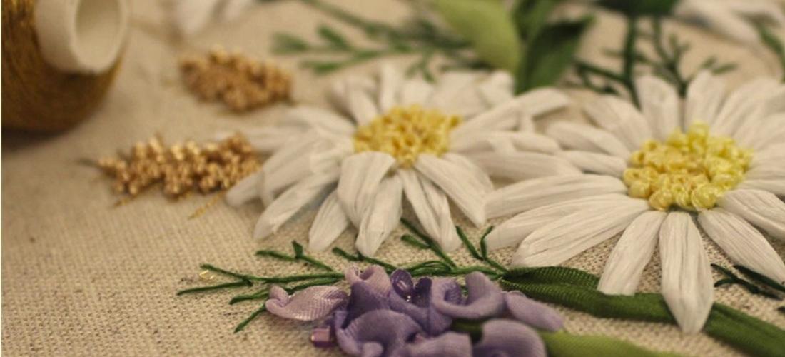 Вышивка рафией