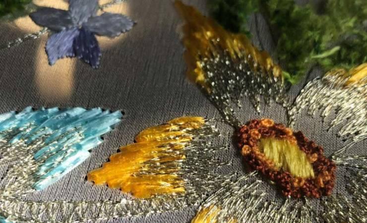 Вышивка рафией: особенности материала