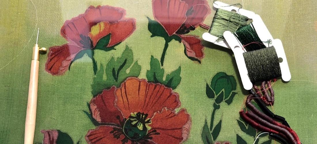 Совмещаем батик с вышивкой